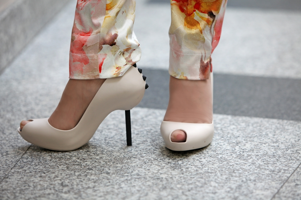kwiaty buty